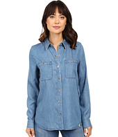 7 For All Mankind - Two-Pocket Slim Boyfriend Button Front in Castle Lake Blue