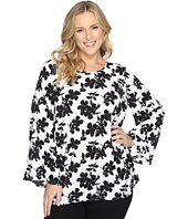 Vince Camuto Specialty Size - Plus Size Bell Sleeve Small Fresco Blooms Blouse