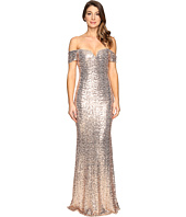 Badgley Mischka - Off the Shoulder Sequin Gown
