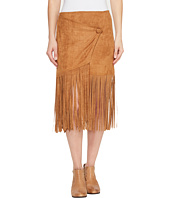 Stetson - 0883 Faux Suede Asymmetrical Wrap Skirt
