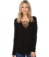 Splendid - Long Sleeve Lace-Up Top