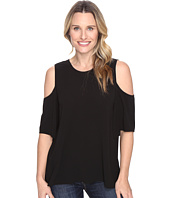 Vince Camuto - Short Sleeve Cold-Shoulder High-Low Hem Blouse