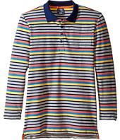 Toobydoo - Multi Stripe Long Sleeve Polo (Toddler/Little Kids/Big Kids)