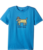 Life is Good Kids - Lucky Dog Crusher Tee (Little Kids/Big Kids)