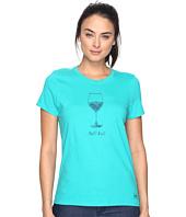 Life is Good - Half Full Wine Glass Crusher Tee