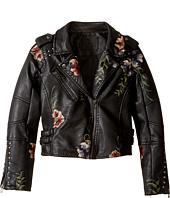 Blank NYC Kids - Floral Vegan Leather Moto Jacket (Big Kids)