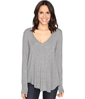 HEATHER - Long Sleeve V-Neck Tee