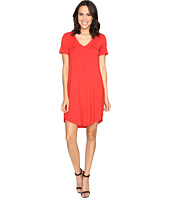 HEATHER - V-Neck Pocket Tee Dress