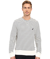Nautica - Long Sleeve Striped Front Crew