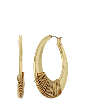 Robert Lee Morris - Gold Wire Wrapped Hoop Earrings
