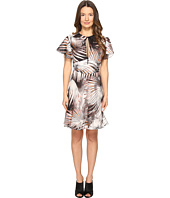 Just Cavalli - Tie-Dye Palm Print Flutter Sleeve Dress