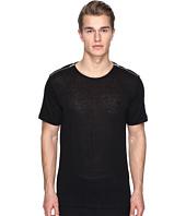 The Kooples - Sport Linen T-Shirt with Shoulder Zip