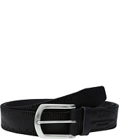 John Varvatos - Scored Edge Belt with Harness Buckle