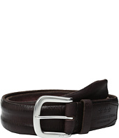 John Varvatos - Boarded and Washed Leather Strap Belt with Buckle