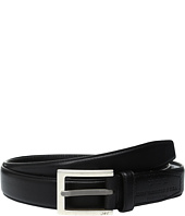 John Varvatos - Leather Dress Belt with Rectangular Buckle