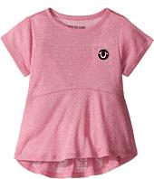 True Religion Kids - Glitter Stripe Peplum T-Shirt (Toddler/Little Kids)