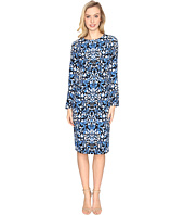 Maggy London - Blossom Flower Printed Crepe Sheath Dress