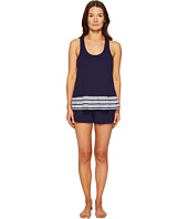 Kate Spade New York - Navy Stripe Short PJ Set