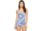 Driving Miss Paisley Skirted Tank Mio One-Piece