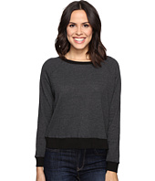 Allen Allen - Long Sleeve Raglan Cropped Crew