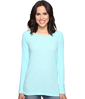 Allen Allen - Long Sleeve Raglan Tunic w/ Contrast Sleeves