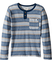 Lucky Brand Kids - Long Sleeve Striped Henley Shirt (Little Kids/Big Kids)