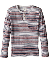 Lucky Brand Kids - Striped Henley Shirt with Chest Pocket (Little Kids/Big Kids)