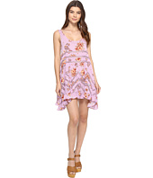 Free People - Printed Viscose Voile & Lace Trapeze Slip