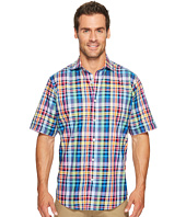 BUGATCHI - Short Sleeve Classic Fit Spread Collar Shirt