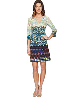 Christin Michaels - Bexley Printed Dress with Beading