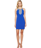 Christin Michaels - Chiari Halter Dress with Embroidered Detail