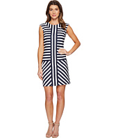 Christin Michaels - Ember Mock Neck Striped Dress