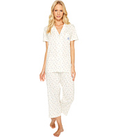 LAUREN Ralph Lauren - Short Sleeve Knit Notch Collar Capri PJ