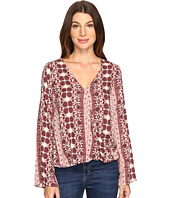 Brigitte Bailey - Tamsyn Printed Overlap Long Sleeve Top