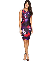 Calvin Klein - Printed Sheath w/ V-Neck Dress