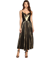 Nicole Miller - Disco Lame Sunburst Pleated Dress