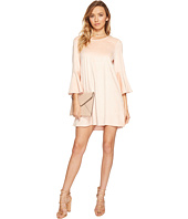 Jack by BB Dakota - Devlyn Drapey Faux Suede Flounce Sleeve Dress