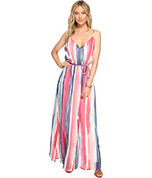 Jack by BB Dakota - Joyner Printed Crinkle Chiffon Maxi Dress