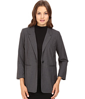 kensie - Heather Stretch Crepe Longer Blazer KS8K2S45