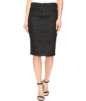 Blank NYC - Black Coated Pencil Skirt in All Lacquered Up