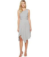 Mod-o-doc - Cotton Modal Spandex Jersey Faux Wrap Tie Back Dress