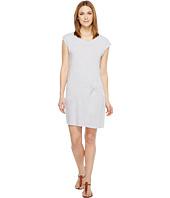 Mod-o-doc - Pinstripe Jersey Asymmetrical Twist Front T-Shirt Dress