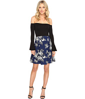 Christin Michaels - Yalena Off the Shoulder Bell Sleeve Dress