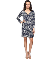 Christin Michaels - Rayna Long Sleeve Wrap Dress