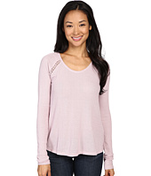 Lucky Brand - Lace Mixed Thermal Top