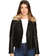 Lucky Brand - Faux-Fur Moto Jacket