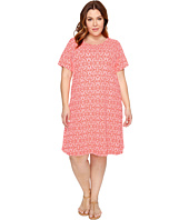 Extra Fresh by Fresh Produce - Plus Size Island Batik Sadie Dress
