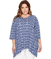 Extra Fresh by Fresh Produce - Plus Size Island Batik Santa Barbara Top
