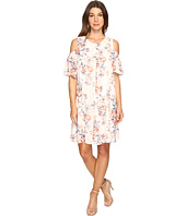 Christin Michaels - Boulle Floral Cold Shoulder Dress