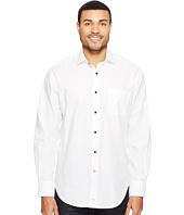 Thomas Dean & Co. - Long Sleeve Textured Solid Sport Shirt